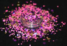 Beautiful Xmas Glitter Mix Nail Art Majestic Splash - Acrylic & Gel Application