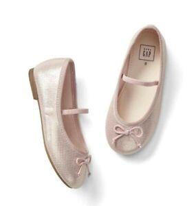 Baby Gap Girl's Classic Pink Metallic Ballet Flat Shoes Size 7 Toddler NWOT