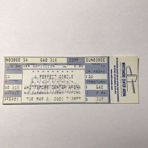 A Perfect Circle Whittemore Center Arena Concert Ticket Stub Vintage March 2001