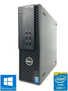 Dell T1700 SFF - 128GB SSD + 1TB HDD, Intel Core i7-4790, 16GB RAM - Win 10 Pro