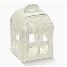 10 Scatole Lanterna Bomboniera DIVERSE MISURE Confezione Porta Confetti Matrimon