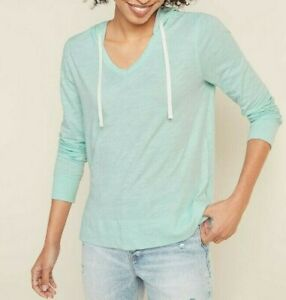 Old Navy Relaxed Lightweight Slub-Knit V-Neck Hoodie #ONW30-5
