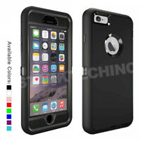 DEFENDER SERIES  Case with Belt Clip For iPhone 6 6S Plus Temper Glass Option