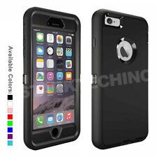 Defensor serie caso con clip de cinturón para iPhone 6 6S Plus opción de vidrio templado con una