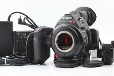【MINT】 Canon EOS C100 Mark II Cinema Camera EF Mount Grip Battery From JAPAN 373