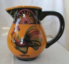 Lang Earthenware Proud Rooster Water Pitcher by Susan Winget 2000