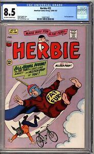 Herbie 22 CGC 8.5 OWW ACG Comics Fat Fury Appearance