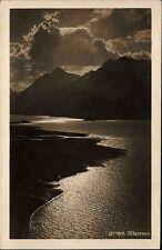 Silsersee Schweiz Suisse Graubünden 1927 Landschaft See Frankatur Helvetia 10