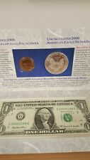 2000 Millennium Coinage & Currency Set Coins with Odd $1 Note serial G20000188A