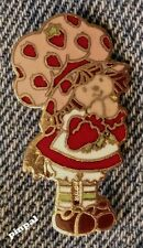 Vintage 1980 Strawberry Shortcake Brooch Lapel Pin~Cloisonne~A.G.C.