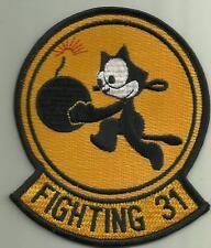 FIGHTING 31 U.S.NAVY PATCH WAR COMBAT AIRCRAFT PILOT SAILOR SOLDIER PLANE FELIX