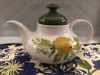 SELTMANN WEIDEN BAVARIA West GERMANY -Vintage Tea Pot W/fruit Green Lid Gorg