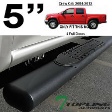 """5"""" MATTE BLACK SIDE STEP NERF BARS RUNNING BOARDS 2004+ COLORADO/CANYON CREW CAB"""