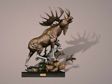 """BRONZE """"Moose"""" Amazing Detail!!! Limited Edition SCULPTURE by BARRY STEIN"""