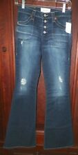 Womens Big Star 27 Button Fly Soulmate Flare Jeans Distressed Destroyed NWT