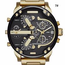 Mens Luxury Watch Stainless Steel Sport Analog Quartz Wristwatches MZCA