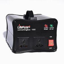LiteFuze convertingbox 1000 Watt Voltage Converter Transformer Premium - Black