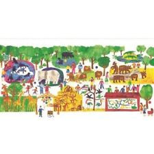 """Andover 123 to the Zoo by Eric Carle 8238 X Scenic Panel 24"""" x 44"""" COTTON"""