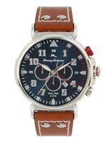 Tommy Bahama Men's Quartz Chronograph Brown Leather Strap 46mm Watch TB00001-01