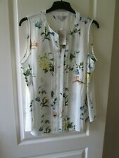 """Ladies Anthology Sleevless Cream Floral Blouse size 18 """"NEW"""""""