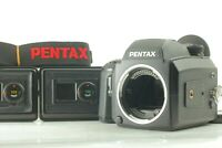 【N MINT】Pentax 645 NII Film Camera w/ 3Film Backs (120x2,220x1) Strap JAPAN 1187
