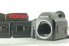 【N MINT】Pentax 645 NII Film Camera w/ 3Film Backs (120x2,220x1) Strap JAPAN 1187