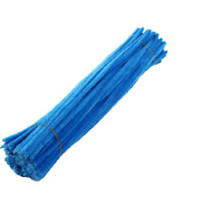 Lots 100pcs Chenille Stems Pipe Twist Rods Cleaners Kids Craft Educational Toys