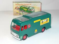 JIMSON 122 Hong Kong Plastic RACING CAR TRANSPORTER & 2 RACERS MINT (221)