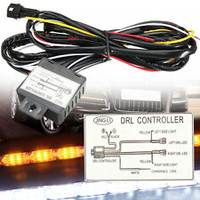 12V Auto Car DRL LED Control Switch Daytime Running Light Relay Harness Dimmer