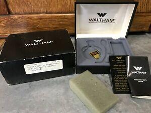 EMPTY Mens Waltham Pocket Watch Box Plastic Vintage Slip Case Replacement 80-90s