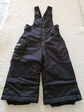 COLUMBIA SPORTSWEAR COMPANY SIZE 2T YOUTH (CHILD) OVERALL SNOWSUIT PANTS BLACK