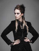 Devil Fashion Women Jacket Black Velvet Coat Steampunk Aristocrat Victorian Goth