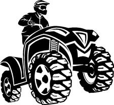 ATV Quad four wheeler rider vinyl decal sticker Honda Yamaha can am Polaris