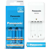 Charger + 2 Eneloop Batteries 5000 Cycle 550 mAh AAA Rechargeable Batteries