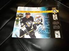 Mario Lemieux Pittsburgh Penguins Autographed Calendar Page