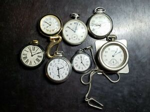 Lot of 7 Dollar Pocket Watches