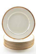 1-8 Charter Club  Classics Bridgeton Gold Dinner Plates 10 5/8 Inch