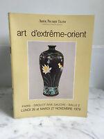 Catálogo De Venta Ader Picard Tajan Art De Extremo Oriente 26,27 Noviembre 1979
