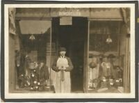 1920s Fashion & Fur Remodeling Storefront w/ Hats & Coats Cabinet Photo