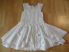 E-GIRLS schönes festliches Kleid weiß Kommunion Hochzeit Gr. 128 TOP TH416