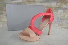 Alexander mcqueen talla 37,5 plataforma sandalias zapatos Heels volver geranio PVP 515 €