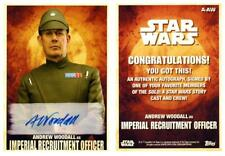 SOLO - A STAR WARS STORY AUTOGRAPH ANDREW WOODALL as IMPERIAL RECRUITMENT A-AW