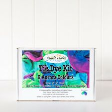 Tie Dye Kit 6 colours Purple, Green, Pink & Blue real fabric dyes bright colours