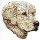 "2 1/4"" x 2 3/8"" Golden Retriever Face Portrait Embroidered Patch"