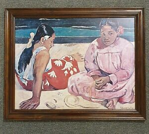 🔶FRAMED PAUL GAUGUIN 'WOMEN OF TAHITI' PRINT meadmore featherston eames mcm #2