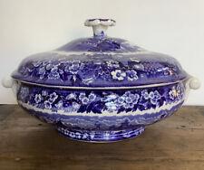 New ListingFerrara Wedgwood Blue England Covered Round Serving Bowl/Dish 8� Diameter