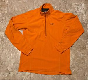 ARC'TERYX POLARTEC DELTA 1/4 Zip Long Sleeve Shirt Orange Sz L