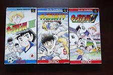 Super famicom SFC Captain tsubasa III IV V 3 4 5 boxed Japan games US Seller