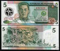 PHILIPPINES 5 PESOS P179 1991 CHRIST COMMEMORATIVE UNC MONEY BILL BANK NOTE