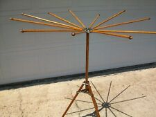 Vintage Wood Drying Rack - 1920's Folding Umbrella Style - Artmoore Co.